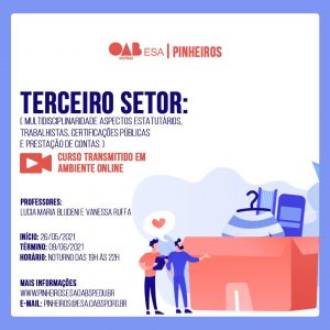Read more about the article 26/05 a 09/06 – Terceiro Setor